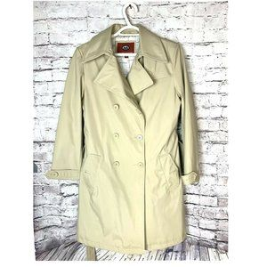 Vintage Marc Mattis Belted-Waist Faux-Leather Trench Coat
